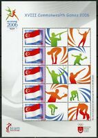 SINGAPORE 2006 XVIII COMMONWEALTH GAMES   PERSONALIZED SHEET MINT NEVER HINGED