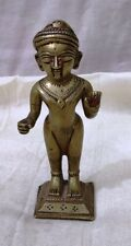 Vintage Brass Indian Tribal Man Figure Statue Collectible Decorative Jhalaram