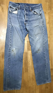 Vintage Levi's Mens' 501xx Jeans 31x30 Red Tab WPL 423 Made in USA Distressed