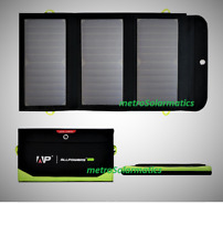 ALLPOWERS 21W Foldable Solar Battery Charger 6000mA Power Bank, 2x USB-A, USB-C