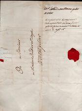 Narbonne 1777 sceau abbé Montpellier Notaire Royal lettre Uzès filigrane