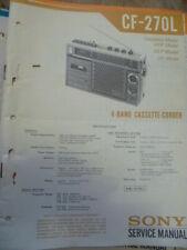 Sony CF-270L Radio Cassette Service Manual