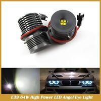 64W CREE E39 6000K LED BIANCO ANGEL EYES CANBUS TY LM 101  E39