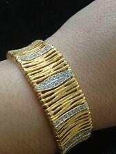 Two Tone Sterling Silver & Cz's Elegant Bracelet
