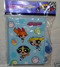 NEW  POWERPUFF GIRLS DIARY BLOSSOM, BUTTERCUP, BUBBLES BACK TO SCHOOL LIGHT BLUE