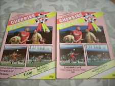 11.4.87 AFC Bournemouth V Walsall programme
