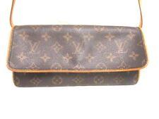 Authentic LOUIS VUITTON Monogram Pochette Twin GM M51852 Shoulder Bag CA0030
