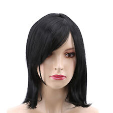 Black Bob Lace Front Wig Straight Short Synthetic Hair for Female Fiber Wigs LH