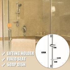 ABS Edelstahl Moderne Brausestange Dusch Stange Wandstange mit Halter + Schale