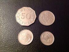 Malta 50 cent 1972,25 CENT 1986, 10 centesimi 1986, 5 cent 1986 EF veloce e gratuita