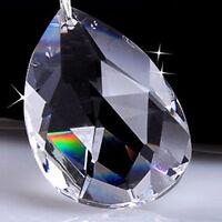 10Pcs Clear Crystal Chandelier Glass Pendant Lamp Prism Part Hanging Drop Decor
