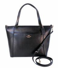 Coach F34497 Crossgrain Leather Pocket Tote Black Crossbody Handbag 395