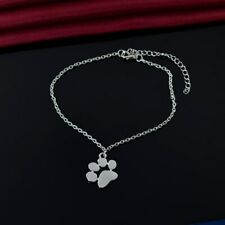 Dog Paw Print Pendant Necklace with Silver Link Chain - Ships Free from the USA