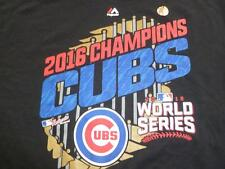 CHICAGO CUBS 2016 WORLD CHAMPS SHIRT MAJESTIC XL NEW WITH TAGS FREE SHIPPING