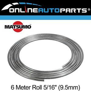 """Steel Bundy Tube Brake Pipe 3/8"""" 9.5mm 6m Fuel Transmission Line Zinc Coated"""