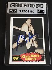 KING KONG BUNDY 1985 OPC WWF WRESTLING SIGNED AUTOGRAPHED CARD #7 CAS AUTHENTIC
