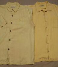 2 Tommy Bahama Men's Button down short sleeve silk shirts, size Medium