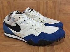 Vintage🔥 Nike Track & Field Rival D White Royal Black Sz 8.5 90's RARE Bowerman