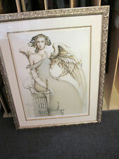 """MICHAEL PARKES """"The Promise"""" Stone Lithograph Framed Signed Numbered"""