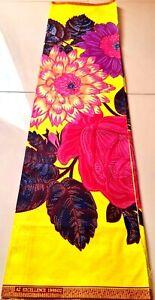 African Wax Print Ankara Flower Fabric PolyCotton New Design Sew Craft Per Yards
