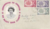 AFD1745) 1953 Australia Coronation Commemoration Queen Elizabeth cachet FDC