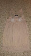 LADIES BEIGE KNIT FLORAL SPRING SUMMER TOP BY RYU SIZE SMALL S
