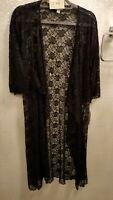 Lularoe Medium Shirley NWT - Black Floral Lace - Good Stretch - Gorgeous