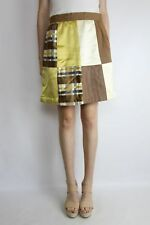 Vintage 70's Chocolate Patch Short A Line Skirt Size (M)