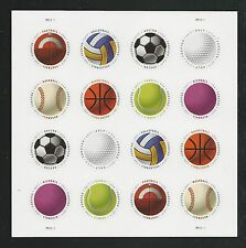 2017 #5203-5210 Have a Ball! Circular Stamps Pane of 16 Mint NH
