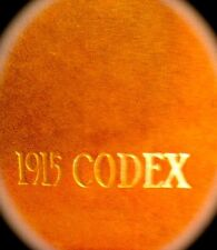 """1915 BELOIT COLLEGE YEARBOOK """"Codex""""~very fine, used AND VERY rare!"""