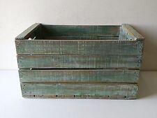 Cassette della frutta ,pitturate shabby chic, verde azzurro
