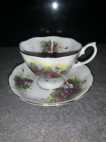 Royal Albert Bone China England Vintage Teacup Saucer Floral Windflower