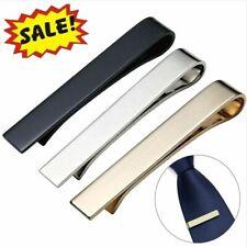 3PCS Set Slim Skinny Regular Ties Necktie Clasp Mens Tie Clip Bar US Warehouse