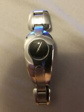 Movado Stainless Steel Black Face Swiss Made Women's Watch 84 A1 1930