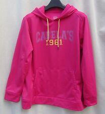 Cabela's 1961 Pink/Yellow Kangaroo Pockets Fleece 2X Hoodie Top Sweatshirt WOMEN