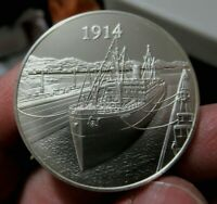 Silver Medal, 1914 Opening of the Panama Canal, 1.05 Troy Oz. Sterling