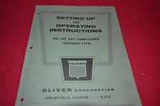 Oliver Tractor 137 Hay Conditioner Operator's Manual BVPA