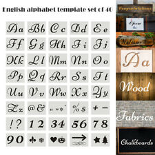 40 Pieces Letter Stencils for Painting on Wood Reusable Plastic Alphabet Stencil