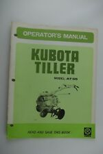 KUBOTA Tiller AT55 Operator's Manual Factory OEM Original Repair