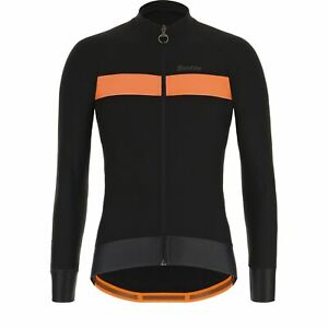 Santini Adapt Long Sleeve Cycling Jersey in Black - Size L