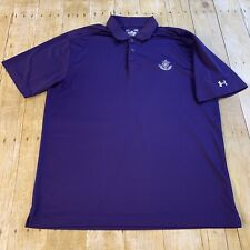Under Armour Heat Gear Loose Large Purple Polo Golf Shirt Camargo Club Golf