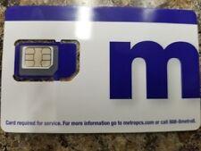 Metro Pcs/Metro by T-mobile Sim Card Standard/Micro/Nano 3 in 1 Tri-Sim