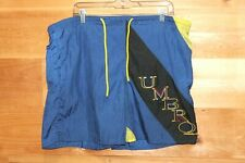 Men's Vintage UMBRO Swim Shorts Color Block Embroidered Spell Out Large 38-40""
