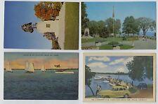 4 Vintage Orillia Ontario Canada Postcards
