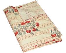 Queen Size Kantha Quilt Throw Bedspread Cotton Gudari Indian Handmade Embroider