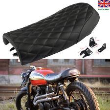 Motorcycle Cafe Racer Brat Flat Seat Hump Saddle  For Honda GB Yamaha Suzuki