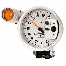 5 Autogage Tachometer 5 Inch Tach 233911 Silver 10k Tachometer Shift Light