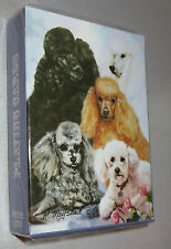 Poodles Standard Toy Deck of Playing Cards Poker Black White Apricot Miniature