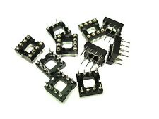 10pack 8-Pin DIP IC Sockets Machined Pins Gold Internal Contacts NEW