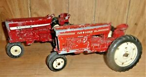 Lot of 2 Vintage Old International & Tru Scale Ty Tractors, see photos